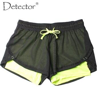Detector de señoras de las Mujeres Pantalones Cortos Mujeres Fitness Sport Shorts mujeres Impreso Mujeres Cool Deporte Corto de la Aptitud de Funcionamiento