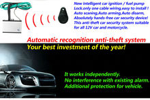 upgarde anti-theft car alarm immobilizer Hands-free automatic recognition engine lock with RFID +remote control Burglar Security(China)