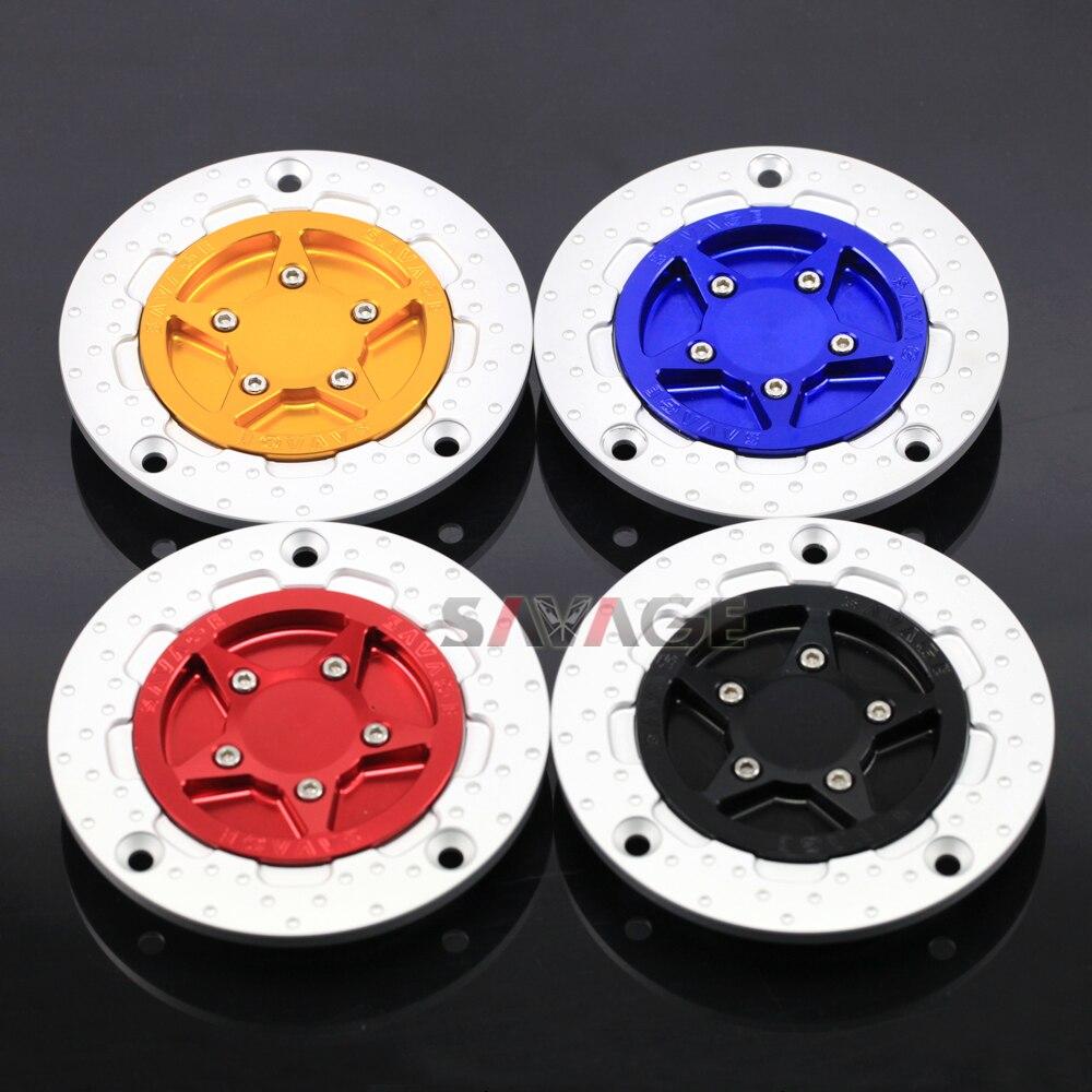 For SUZUKI GSXR 600/750/1000 GSR600 GSR750 GSXS750 HAYABUSA DL650 V-strom CNC Gas Fuel Tank Cap Cover Motorcycle Accessories<br>