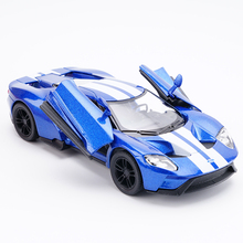 Hot sale 1:32 scale High simulation alloy model car Ford GT Fast & Furious quality toy models free shipping(China)