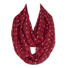 Spring New Lovely Female Dot&Stripe Ring Scarf Fashion Women Voile Nice Character Loop Scarf Ethnic Style Size