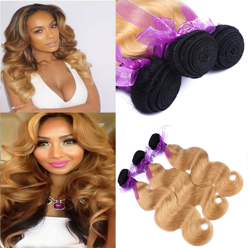Brazilian Virgin Hair Ombre Body Wave Extension 4 bundles Raw Virgin Human Hair Unprocessed Brazilian Hair Ombre Weave Body Wave<br><br>Aliexpress