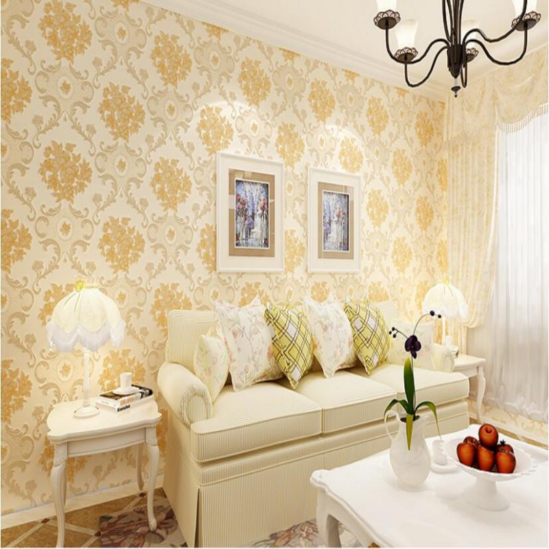 Beibehang Free Shipping European Beibehang wallpaper coupons 3d Damascus decorative wallpaper background bedroom 3d wallpaper<br>