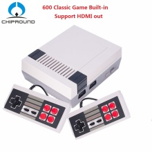 HDMI Output Retro Classic handheld game player Childhood Gift Mini TV Vedio Game Console Built-in 600 Games for NES dual gamepad(China)