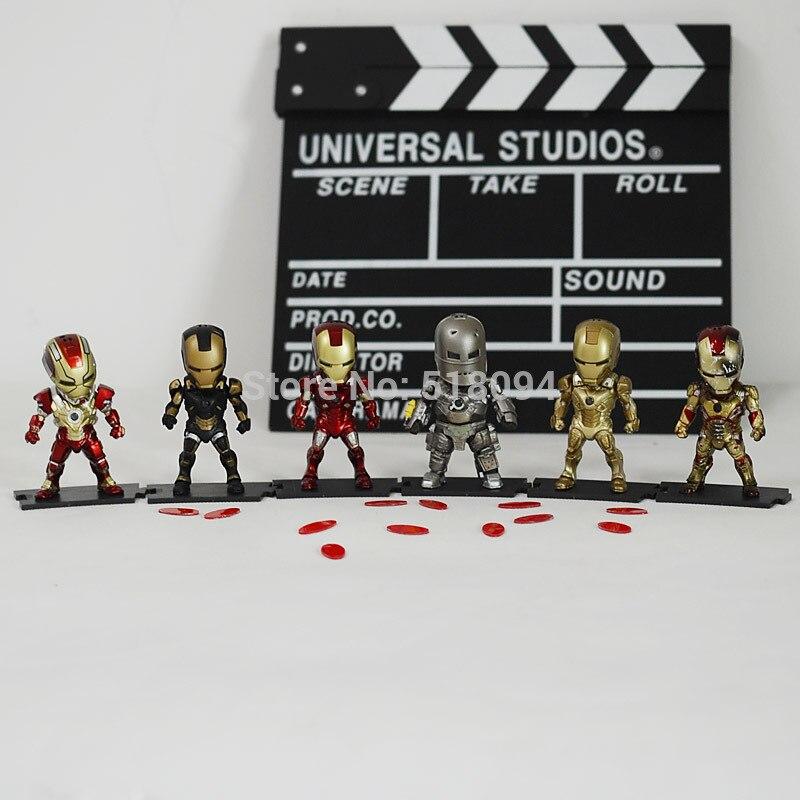 Iron Man Light &amp; Action Function Iron Man Mark I Mark XX  Mark VII PVC Action Figure Collectible Toys 6pcs/set HRFG294<br><br>Aliexpress
