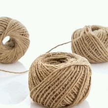1Roll 30M burlap Rope Natural Jute Twine Burlap String Hemp Rope Wedding Gift Wrapping Cords Thread 3 Colors new year(China)