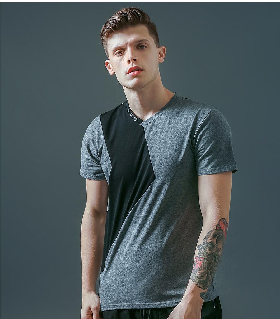 6 Designs Mens T Shirt Slim Fit Crew Neck T-shirt Men Short Sleeve Shirt Casual tshirt Tee Tops Mens Short Shirt Size M-5XL 13