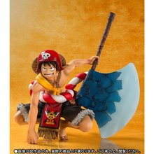 12cm Monkey D. Luffy Action Figure Gold axe theater decisive battle One piece PVC Gift Toys doll Anime Movie Model collection(China)