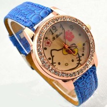 Free Shipping 100pcs/lot Fashion Lovely Hello Kitty Wrist Watch Fast Delivery Factory Price wholesale