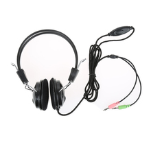 2017 Hot selling wired Earphone Headphone with Microphone MIC Headset Skype for PC Computer Laptop