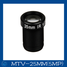 "Free shipping 5 Megapixel cctv camera lens 25mm  Fixed   Iris lens, 1/2""  M12x0.5 Mount Fixed for Security Camera, MTV-25MM(5MP)"