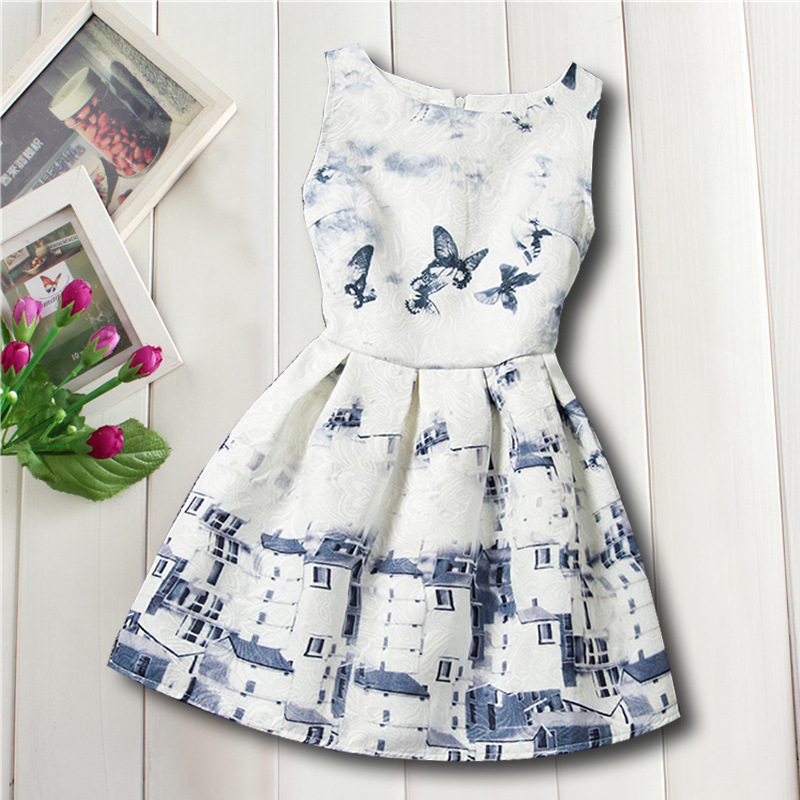 Design Butterfly Summer Cool Fashion New Girls Children Cloth Gift Dress Princess Party Kids 6-16Y Girls Dress Princess Dresses<br><br>Aliexpress