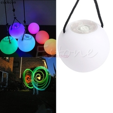Pro LED Multi-Coloured Glow POI Thrown Balls Light up For Belly Dance Hand Props(China)