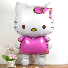 1Pcs Lovely 116 * 65cm hello kitty  Cat Foil Balloons Birthday Decoration Wedding Party Inflatable Air Balloons 8Z