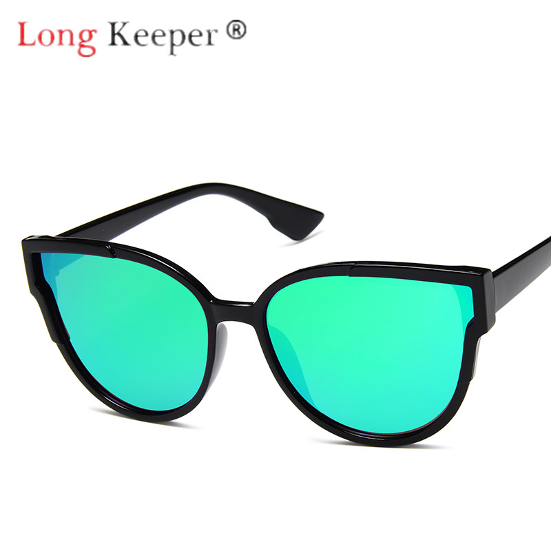 Long Keeper Cat Eye Sunglasses Women Men Sun Glasses Eyewear Eyeglasses Plastic Frame HD Lens UV400 Fashion Comfortable 10PCS