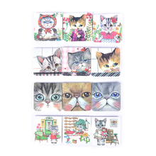 3Pcs/Pack Cats Cartoon Stationery Magnet Paper Clip Magnetic Bookmark For Books Mark Clips School Office Supply Gift Stationery(China)