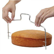 Stainless Wire Cake Slicer Adjustable Pizza Cutter Trimmer Dough