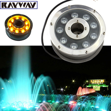 6W 12W 18W Underwater Pond light IP68 White/ Warm White RGB LED fountain light DC12V/24V Swimming Pool light Led Decoration lamp