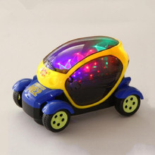 EFHH Electric Universal Vehicle Model Toy Car with 3D Flashing Musical Children Education Toys Not Include Battery Drop Shipping(China)
