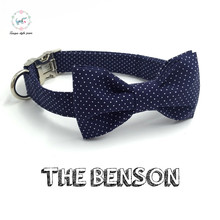 dot dog collar  bow tie  personal custom pet pupply designer product dog &cat necklace XS-XL