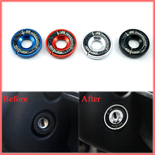 VW  POLO;BEETLE;GTI Ignition Key Ring Dashboard Aluminium Alloy Sticker FOR Volkswagen BLACK RED BLUE SILVER