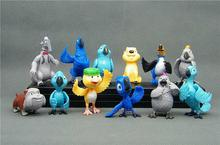 Free shipping 12pcs/1set  2014 new Popular American animation Rio 2  Rio Adventure Baby toys fIgures