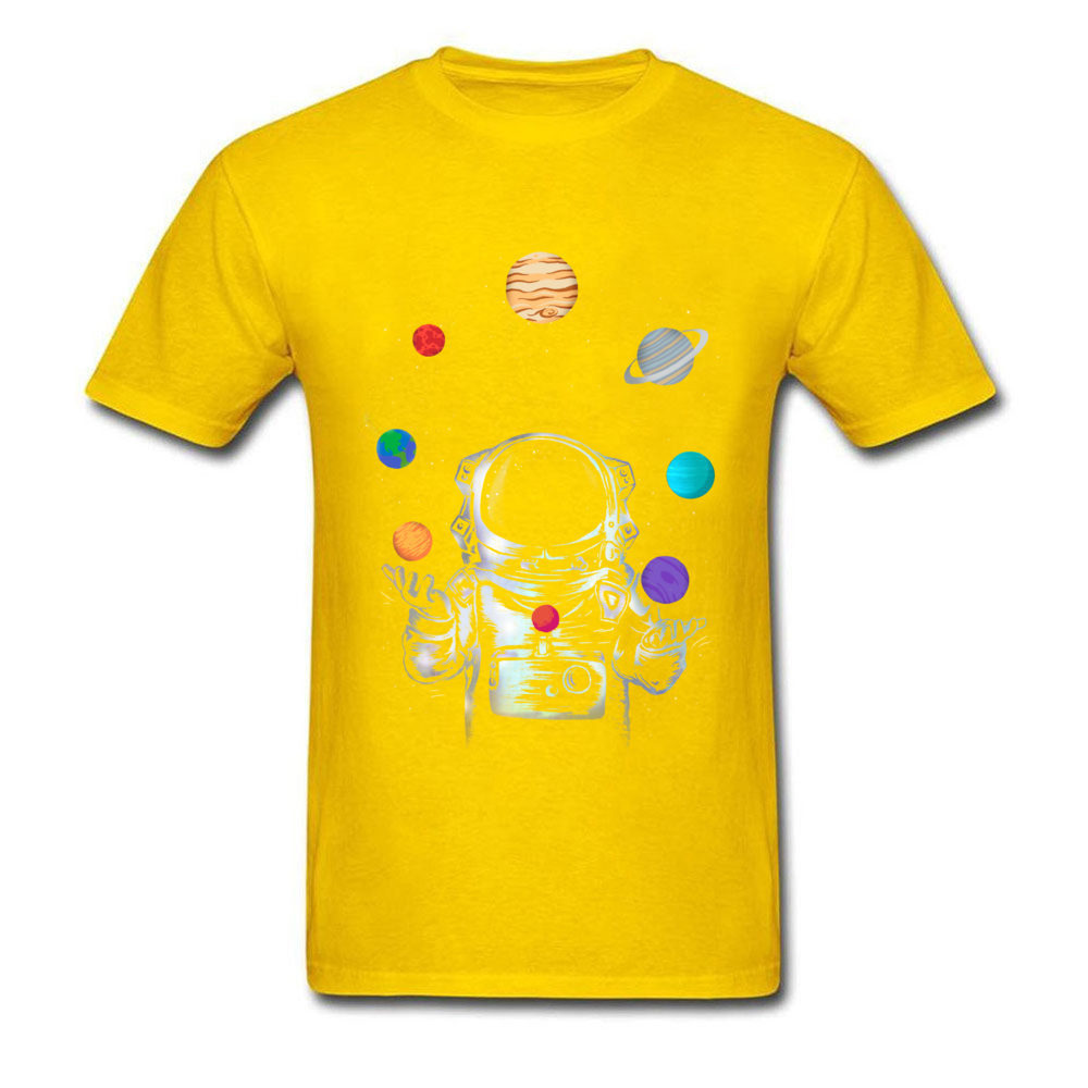 Space Circus Crazy Labor Day 100% Cotton Round Neck Male Tops & Tees Party T-shirts Plain Short Sleeve Tshirts Space Circus yellow