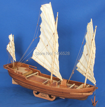 ALL NEW VERSION Wooden boat model wood scale model1/62 Chinese sailing scale assembly model ship building kits scale boat ship(China)