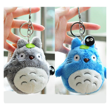 CXZYKING New Arrival Cute Japanese Anime Gray My Neighbor Totoro Plush Key Chain Pendant Keychain Totoro Dolls Toys 4'' 10cm
