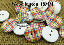 wholesale (100pcs/lot) color squares wooden buttons for baby hat 18MM MCB-746-1(China)