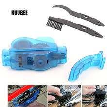 KUUBEE Portable Bicycle Chain Cleaner Bike Clean Machine Brushes Scrubber Wash Tool Mountain Cycling Cleaning Kit Brush