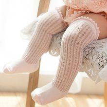 0-5 Years New Breathable Summer Baby Socks Cotton Knee High for Newborns Boys Girls Kids Infant Childrens Socks Bebe Clothes(China)