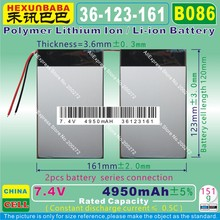 "[B086] 7.4V 4950mAh [36123161] Polymer lithium ion battery for 10.1"" CUBE U30GT 1 / 2 QUAD;U30GT DUAL CORE TABLET PC(China)"