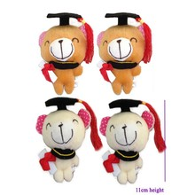 20 pcs/lot,Free Shipping Wholesale stuffed graduation cocolate  bear Hot  Dr. chocolate bear, plush graduation gifts