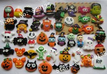 Wholesale Resin Halloween Sets, 500pcs/lot, Resin Flat Back Cabochons for Hair Bow Center, DIY(China)