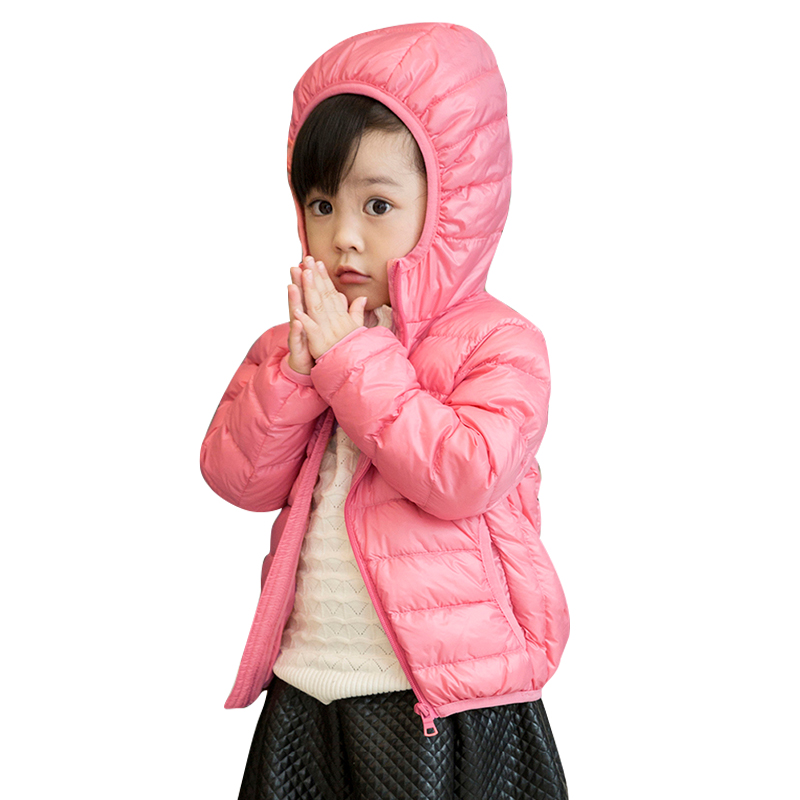 2017 winter child girls down jackets boys down coat children clothing kids hooded parkas thicken cotton padded trench coats<br>
