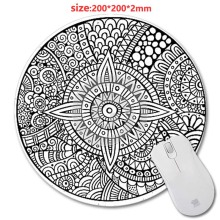 Mairuige Cheap And Good Designed Mouse Pad With Mandala Pattern Fashion Design Circular Mousepad With Rubber 20cm by Mouse Pads(China)