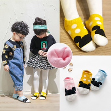 kids girls boys christmas socks baby dot cotton cheap stuff meia infantil sock polly spring summer toddler sox 3pairs/lot(China)