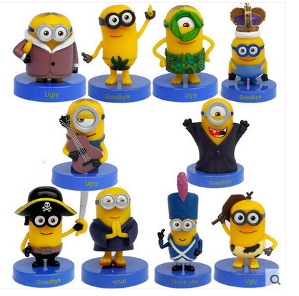 New!!! 10pcs Full Set Minios Cartoon Dolls Despicable Me 3 Action Figure Limited Edition  Minions McDonalds Happy Meal Toys<br><br>Aliexpress