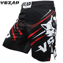 VSZAP Mma Short muay thai Black Boxing Sports Tatami explosion Fighting wolf Combat MMA Shorts(China)
