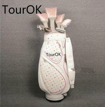 TourOK womens FIGARO complete clubs set Drive+fairway wood+irons Graphite Golf shaft and headcover Free shipping