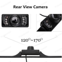 best selling Night Vision IR LEDS Infrared Car License Plate Camera Back Up Rear View Camera 120~170 Degree