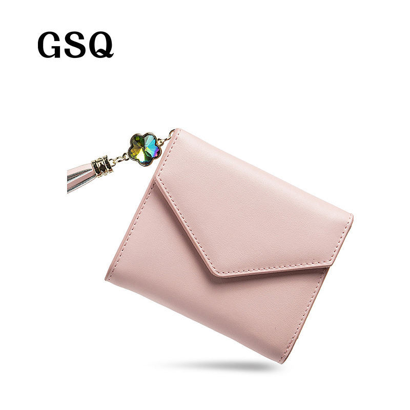 GSQ Fashion Cute Hasp Women Leather Wallet Women Wallet Zipper Coin Pocket Card Holder Hot Money Pocket High Quality Girl Purse<br><br>Aliexpress