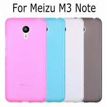 New Candy color soft silicone TPU gel back cover case for Meizu M3 note Meilan Note 3 with screen film and stylus pen(China)