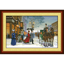 Everlasting Love Twilight in foreign country Ecological cotton Cross Stitch 11 CT and 14 CT stamped product Christmas sales(China)