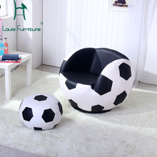 European style football sharp sofa with pedal solo countryside living room furniture comfortable for children relaxing stool(China)