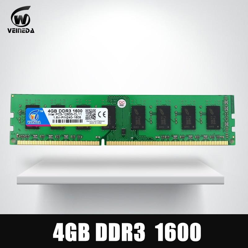 Dimm Ram DDR3 4 gb 1600Mhz ddr 3 4gb PC3-12800 Memoria 240pin for All AMD Intel Desktop <br>