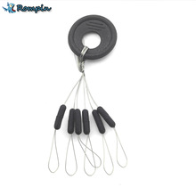 Rompin Highly Commend 10 Pcs 6 in 1 Size S M L  Black Rubber Oval Stopper Fishing Bobber Float