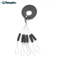 Rompin Highly Commend 10 Pcs 6 in 1 Size S M L Black Rubber Oval Stopper Fishing Bobber Float(China)