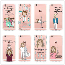 Fashion Spain Cute Cartoon Medicine Nurse Doctor Dentist for Iphone 5 5 s 5 c 6 6plus 7 7plus Soft silicone TPU Clear cover(China)